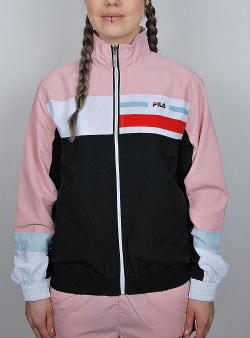 Fila Kaithe track jacket Black coral blush bright white