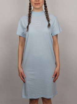 Cheap Monday Smash dress square logo Light blue
