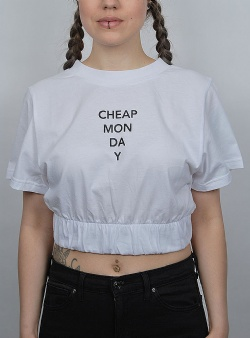 Cheap Monday Crop top White