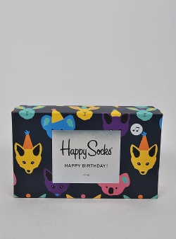 Happy Socks Party animal singing birthday gift box Multi