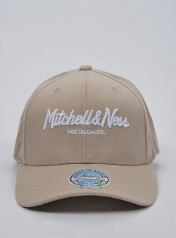 Mitchell and Ness Pinscript 110 flexfit snapback Oyster grey