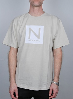 New Black Box logo tee Beige