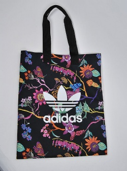 Adidas Shopper Black flowers