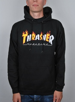 Thrasher Flame mag hood Black