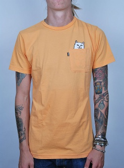 Rip n Dip Lord nermal tee Overdyed orange