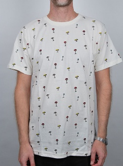 Dedicated Mushrooms tee Off white