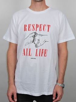 Dedicated Respect life tee White