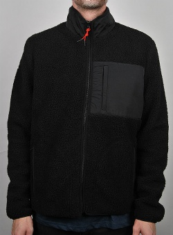 WeSC Moritz teddy fleece jacket Black