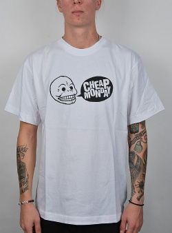 Cheap Monday Uni tee speech logo White
