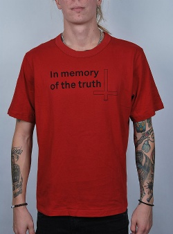 Cheap Monday Boxer tee memory truth Dark red