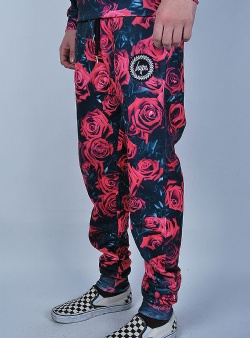 Hype Roses joggers Black red