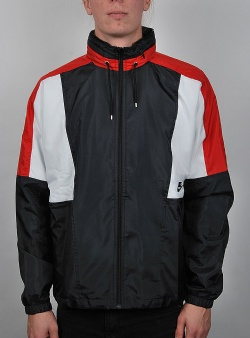Nike Re issue jacket woven Black university red summit white black