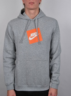 Nike Hbr hoodie po fleece Grey heather