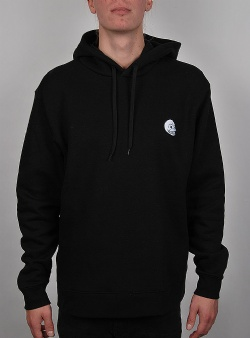 Cheap Monday Pullover hood skull badge Black