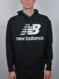 New Balance Essentials stacked hoodie Black