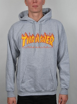 Thrasher Flame hood Grey