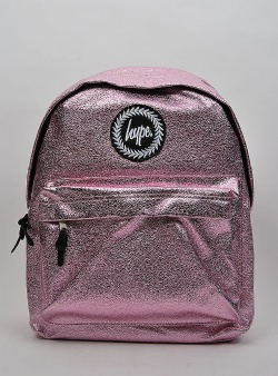 Hype Crinkle foil backpack Pink