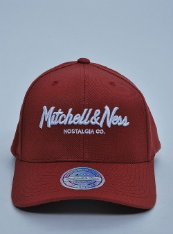 Mitchell and Ness Pinscript 110 flexfit snapback Collegiate red