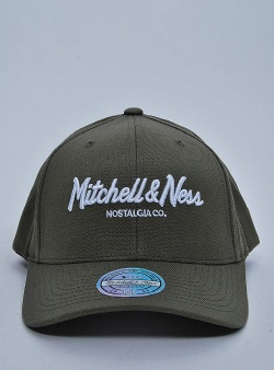 Mitchell and Ness Pinscript 110 flexfit snapback Olive