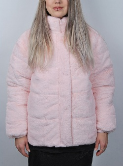 Hype Faux puffer jacket Pink