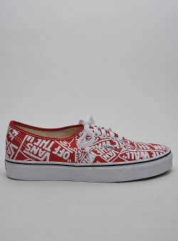 Vans Authentic otw repeat Red true white