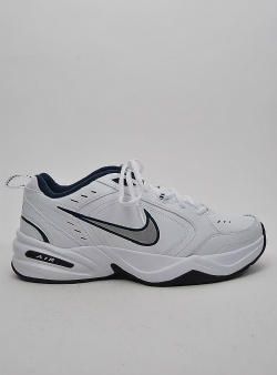 Nike Air monarch IV Wht metallic silver