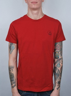 Cheap Monday Standard tee tiny skull Dk red