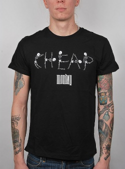 Cheap Monday Standard tee skeleton logo Black