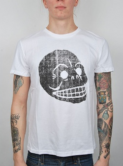 Cheap Monday Standard tee copy skull White