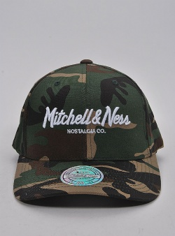 Mitchell and Ness Pinscript 110 flexfit snapback Woodland camo