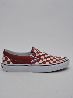 Vans Classic slip-on Checkerboard rumba red true white