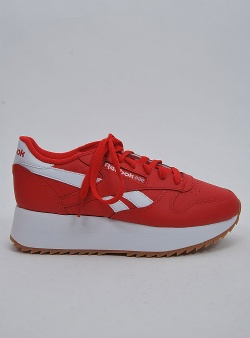 Reebok Classic leather double Primal red wht cobalt