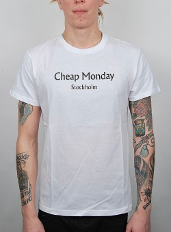 Cheap Monday Standard tee chp mnd text White