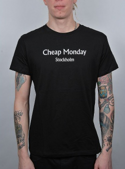 Cheap Monday Standard tee chp mnd text Black
