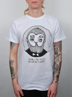Dedicated Shaving tee White