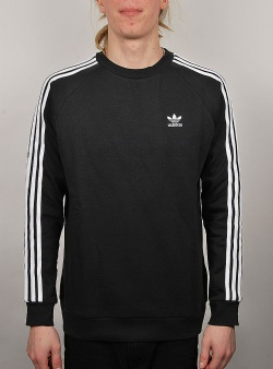 Adidas 3 stripes crew Black