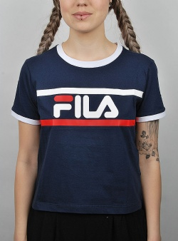 Fila Ashley cropped tee Black iris