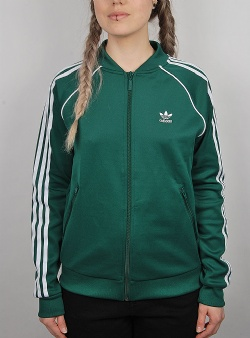 Adidas Superstar track top Cgreen