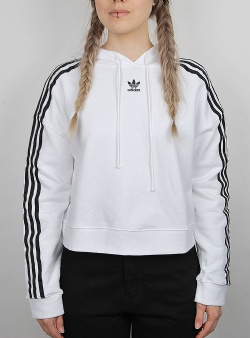 Adidas Cropped hoodie White