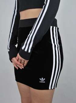 Adidas 3 str skirt Black