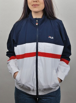 Fila Kaya wind jacket Black iris bright white true red