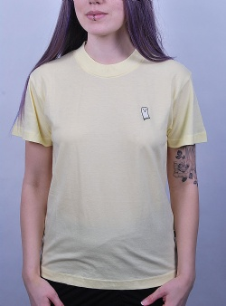 Wemoto Spooky cropped tee Tender yellow