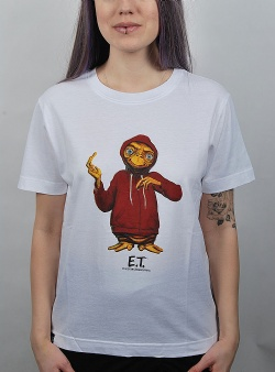 Dedicated x E.T. Extra terrestrial tee White