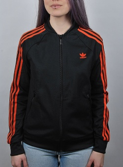 Adidas Superstar track top Black craora