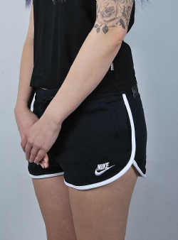 Nike Heritage short flc Black white