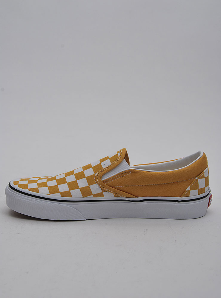 42dafabe Vans Classic slip-on. Checkerboard yolk yellow true white