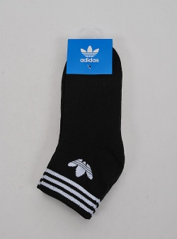 Adidas Trefoil ankle socks 3 pack Black