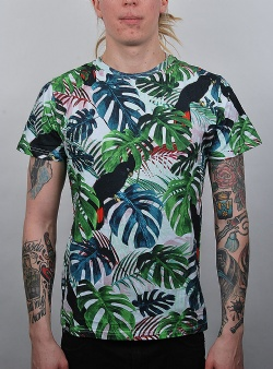 Dedicated Color leaves tee Green