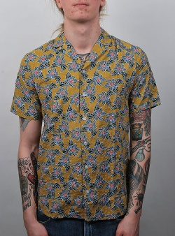 Revolution Ravn short sleeve shirt Yellow