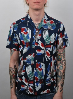 Revolution Ravn short sleeve shirt Navy